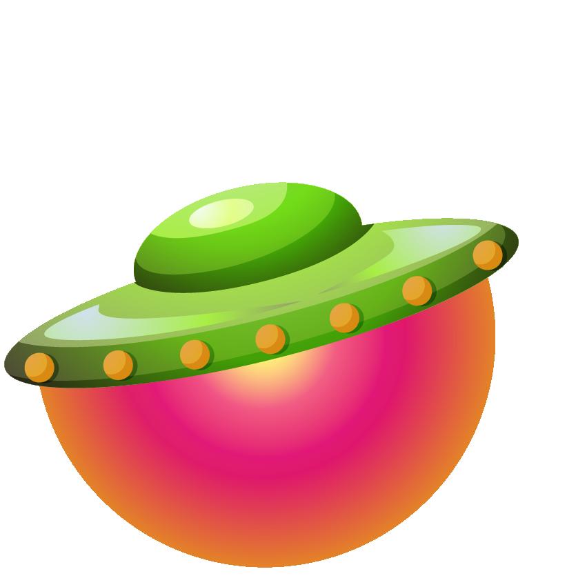 Летающая тарелка зелёного цвета