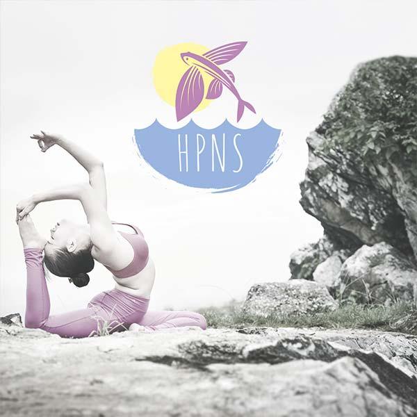Логотип студии йоги HPNS