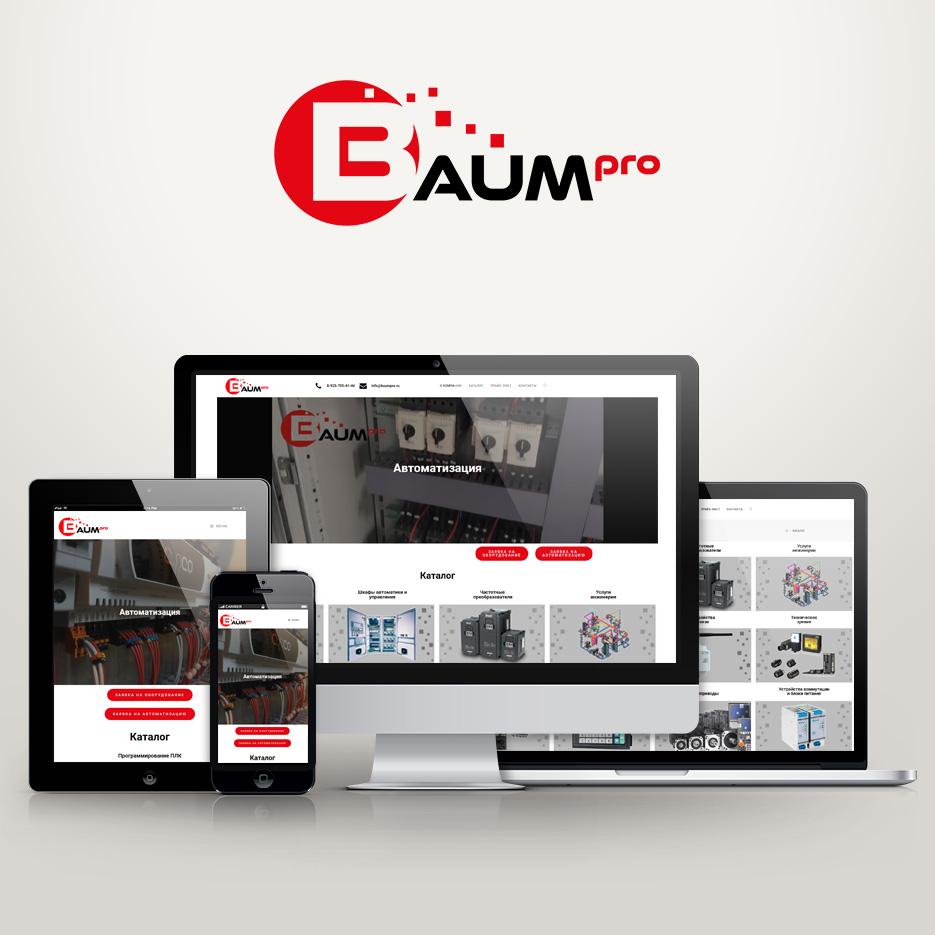 Завершили сайт baumpro.ru для компании «BAUM», г. Москва