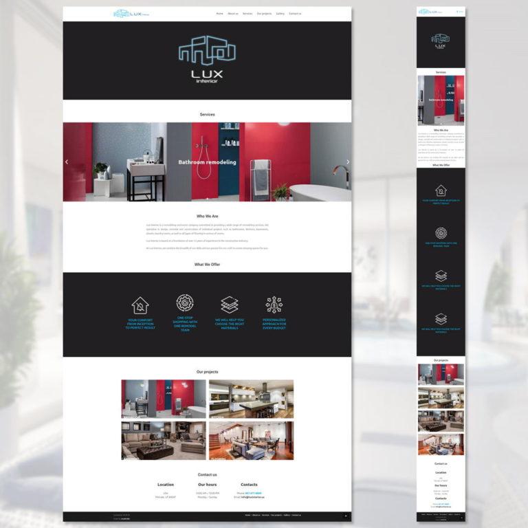 Завершили сайт для компании Lux interior (USA)