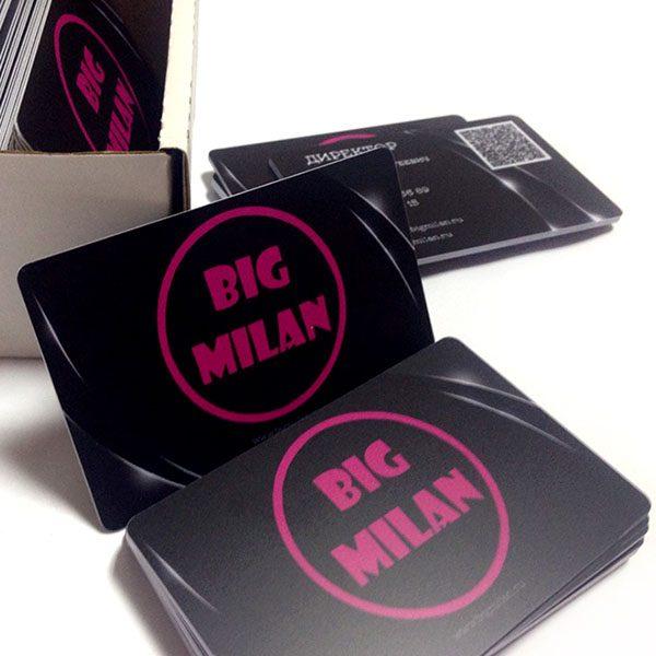 Пластиковые карты для BIG MILAN
