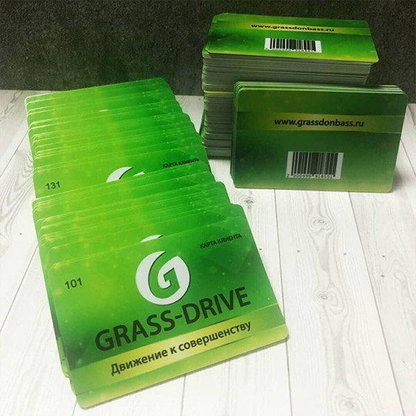 Пластиковая карта Grass-drive